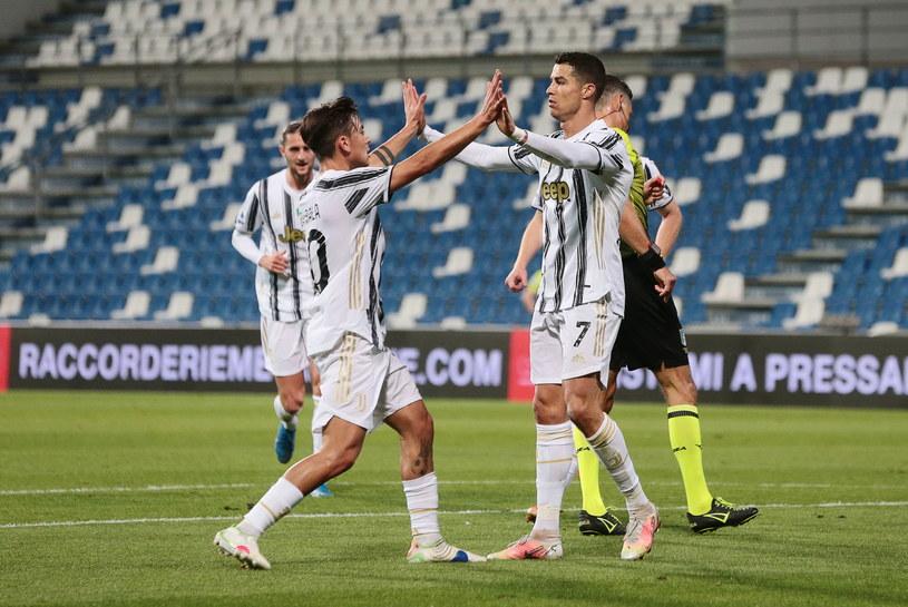 Radość piłkarzy Juventusu w starciu z Sassuolo /ELISABETTA BARACCHI /PAP/EPA