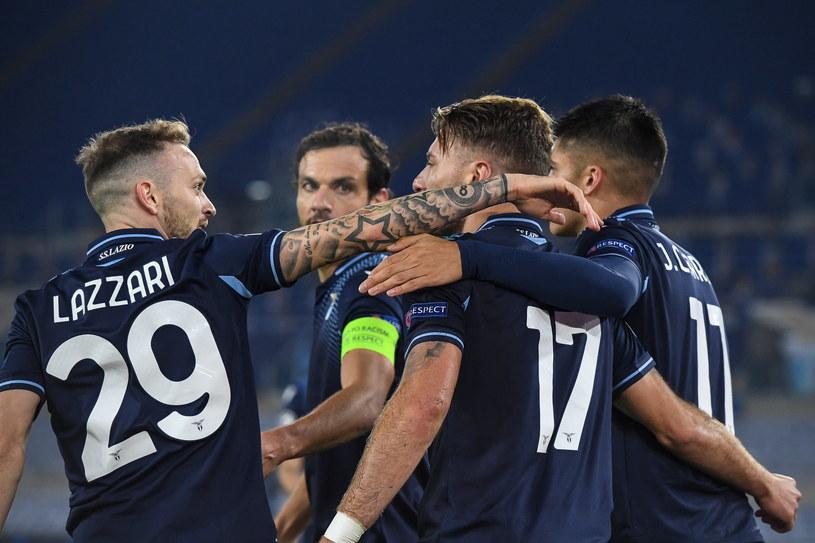 Radość piłkarzy Lazio /ALESSANDRO DI MEO /PAP/EPA