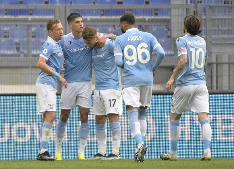 Radość piłkarzy Lazio /CLAUDIO PERI /PAP/EPA