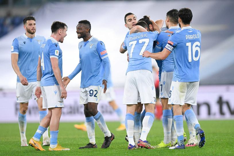 Radość piłkarzy Lazo /Giuseppe Maffia /Getty Images