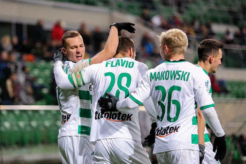 Radość piłkarzy Lechii Gdańsk /Tadeusz Skwiot /Newspix