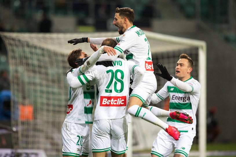 Radość piłkarzy Legii po golu Flavio Paixao / Marcin Karczewski / PressFocus /Newspix