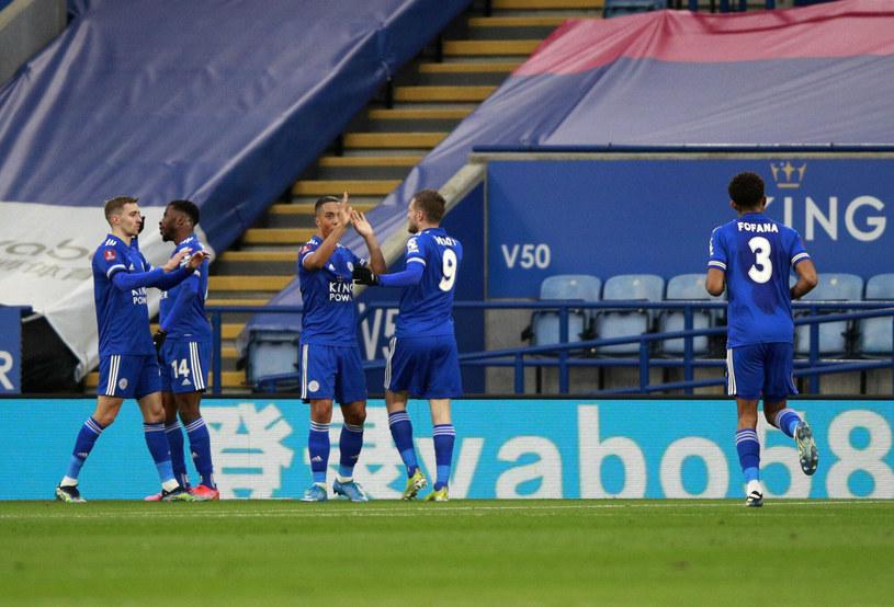 Radość piłkarzy Leicester /AP /East News