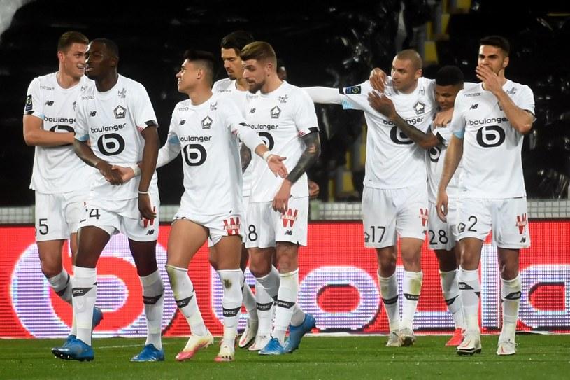 Radość piłkarzy Lille /FRANCOIS LO PRESTI /AFP