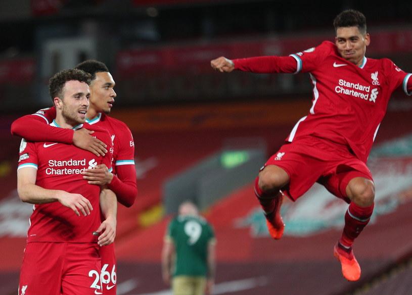 Radość piłkarzy Liverpoolu /Peter Byrne   /PAP/EPA
