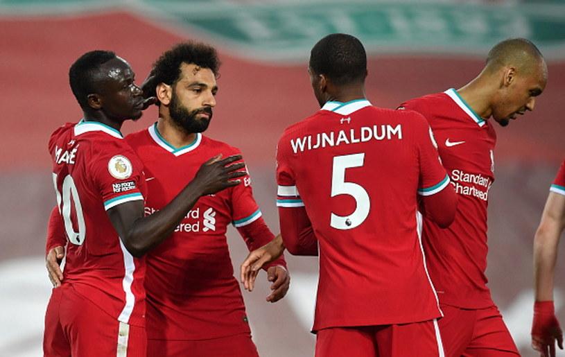 Radość piłkarzy Liverpoolu /Paul Ellis - Pool /Getty Images