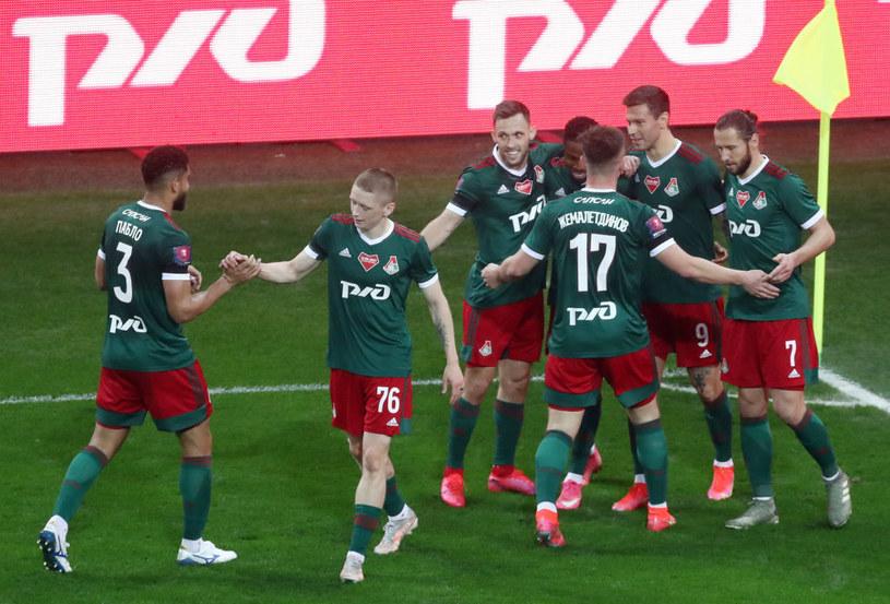 Radość piłkarzy Lokomotiwu Moskwa /Stanislav Krasilnikov/TASS /Getty Images