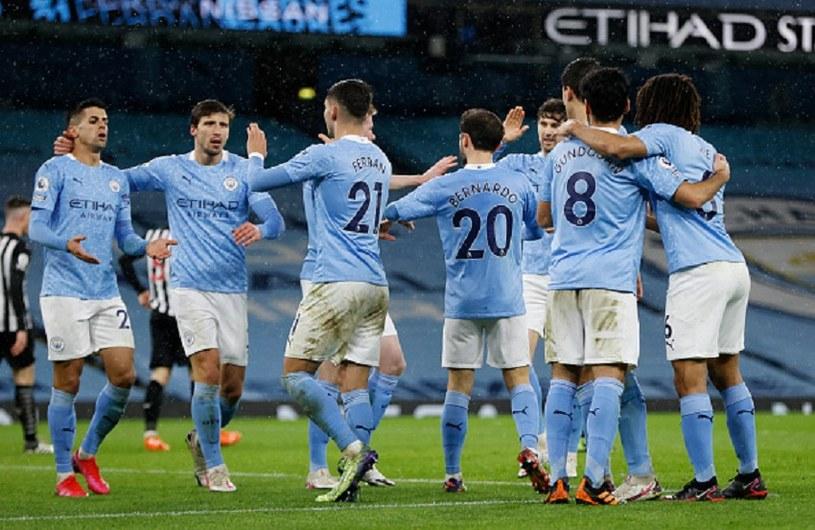 Radość piłkarzy Manchesteru City /Clive Brunskill /Getty Images