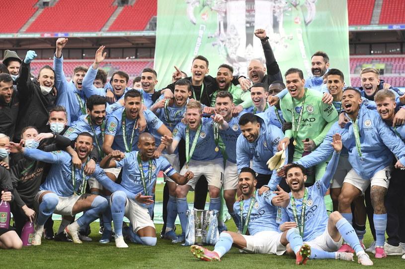 Radość piłkarzy Manchesteru City /PAP/EPA
