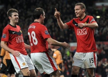 Radość piłkarzy Manchesteru United. /AFP