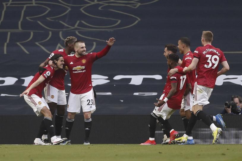 Radość piłkarzy Manchesteru United /PAP/EPA