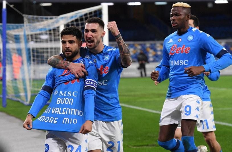 Radość piłkarzy Napoli po strzelonym golu na 1-0 /CIRO FUSCO /PAP