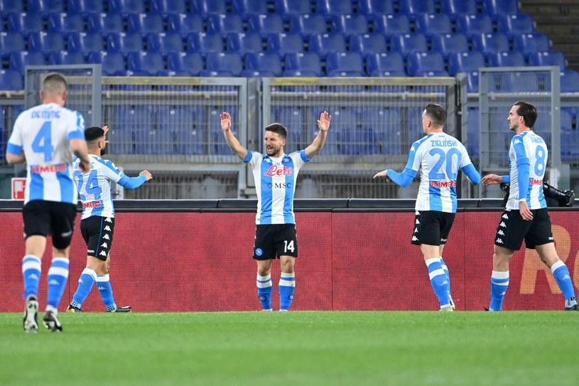 Radość piłkarzy Napoli. W środku Dries Mertens /AFP