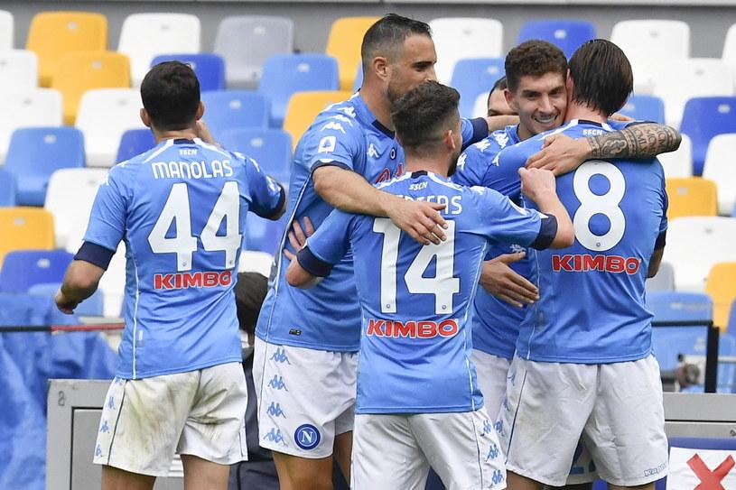 Radość piłkarzy Napoli /CIRO FUSCO /PAP/EPA