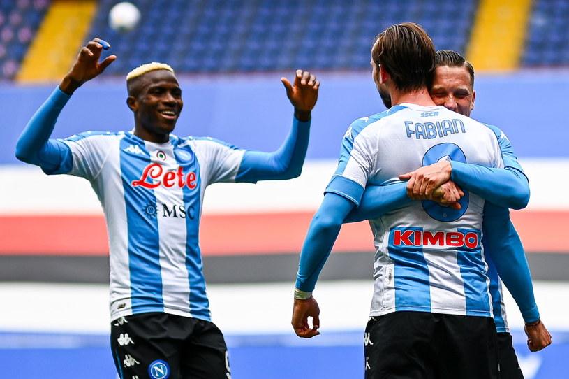 Radość piłkarzy Napoli /SIMONE ARVEDA /PAP/EPA