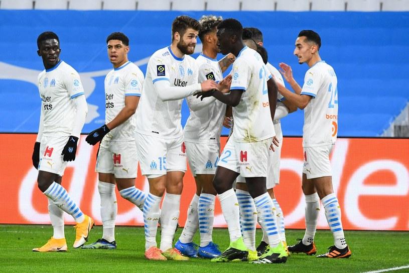 Radość piłkarzy Olympique Marsylia /CLEMENT MAHOUDEAU /AFP