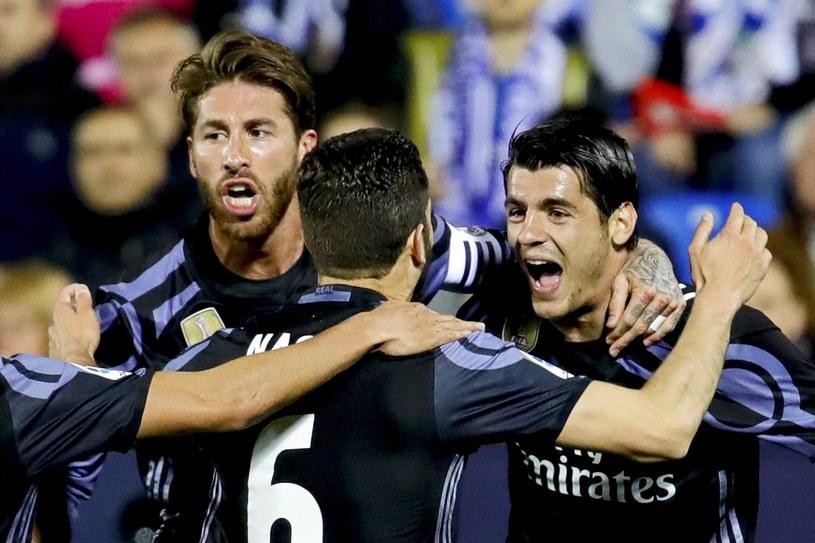 Radość piłkarzy Realu Madryt. Z prawej Alvaro Morata /PAP/EPA