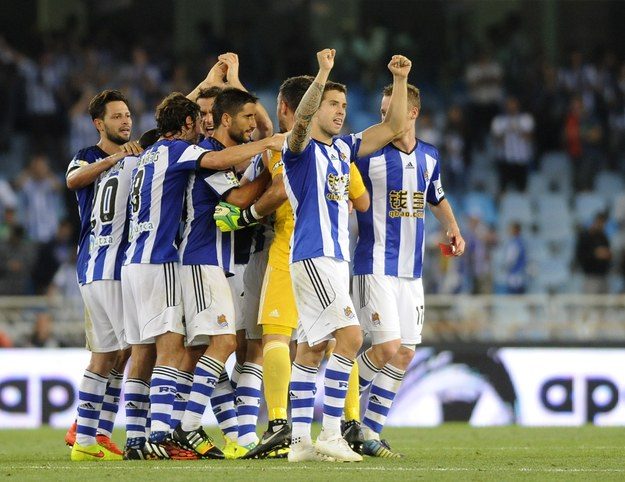 Radość piłkarzy Realu Sociedad /AFP