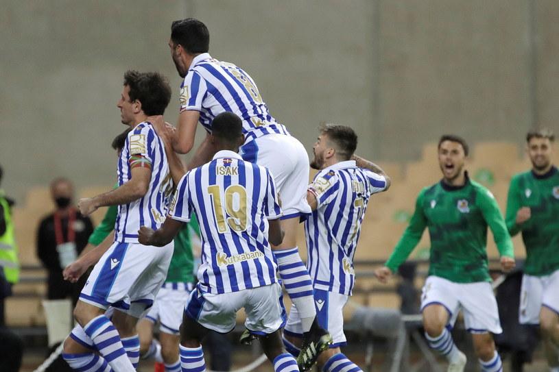 Radość piłkarzy Realu Sociedad /JULIO MUNOZ  /PAP/EPA