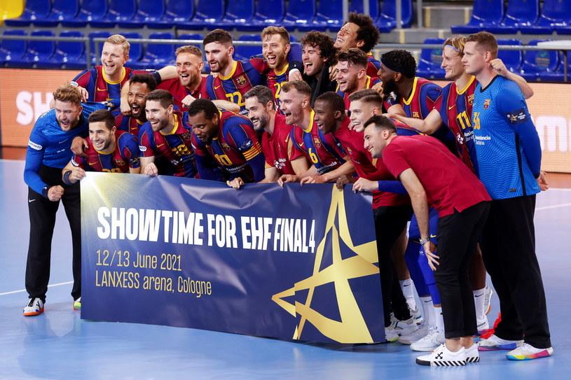 Radość piłkarzy ręcznych Barcelony /PAP/EPA