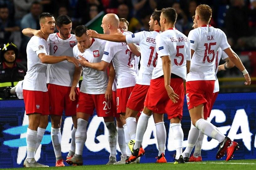 Radość piłkarzy reprezentacji Polski w meczu z Włochami /Bartłomiej  Zborowski /PAP