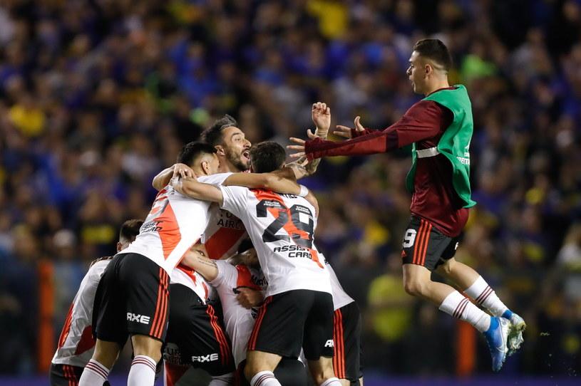 Radość piłkarzy River Plate Buenos Aires /PAP/EPA