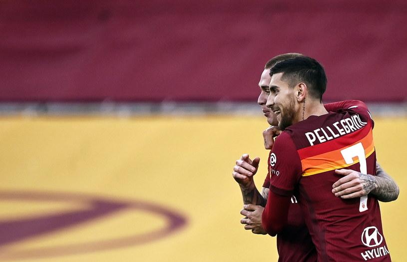 Radość piłkarzy Romy /RICCARDO ANTIMIANI /PAP/EPA