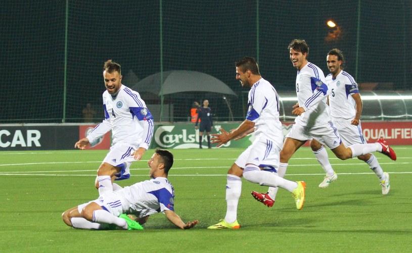 Radość piłkarzy San Marino /AFP