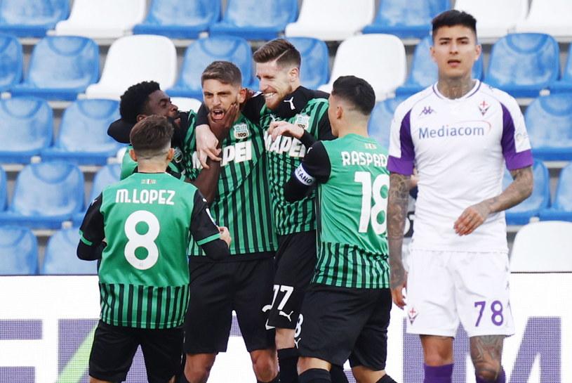 Radość piłkarzy Sassuolo /SERENA CAMPANINI /PAP/EPA