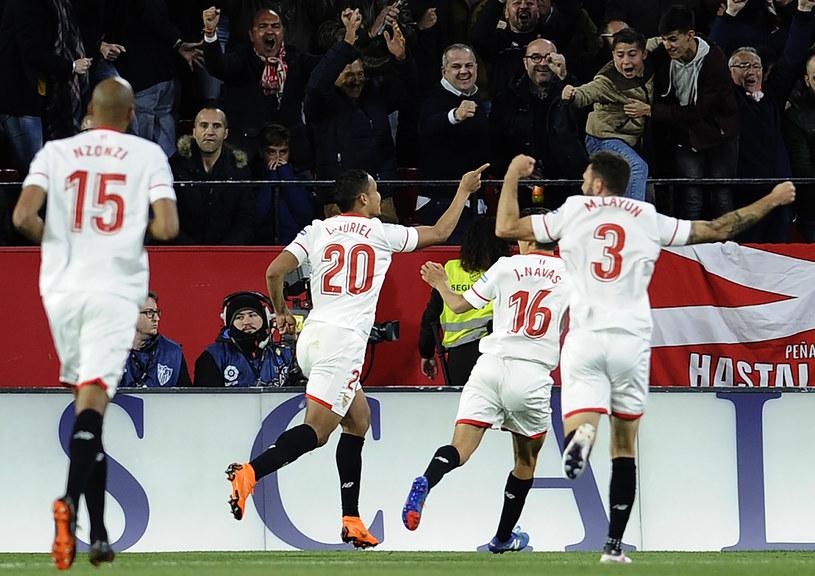 Radość piłkarzy Sevilli /AFP