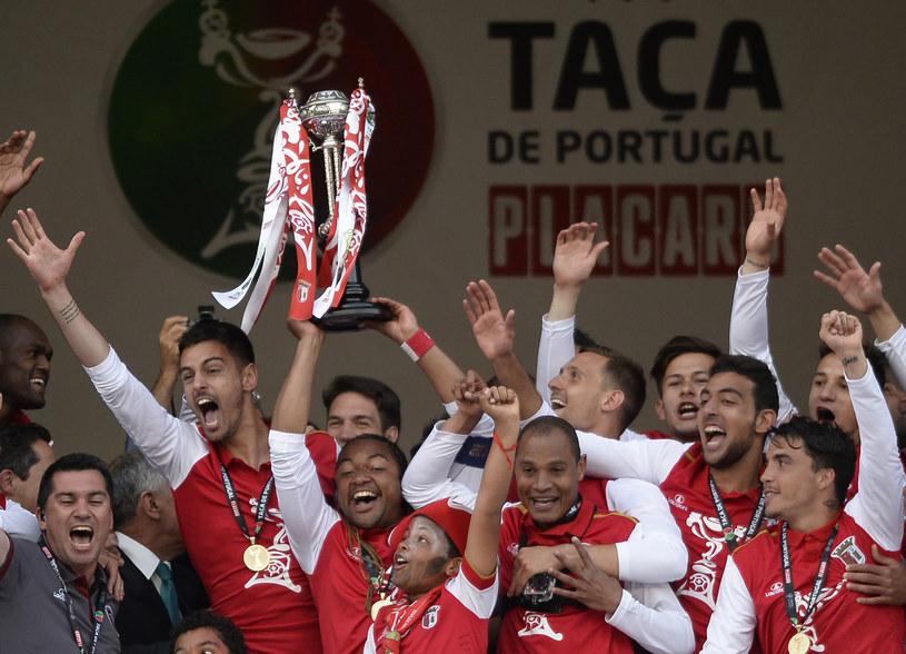 Radość piłkarzy Sportingu Braga /AFP