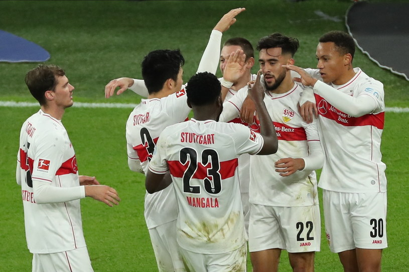 Radość piłkarzy VfB Stuttgart /PAP/EPA