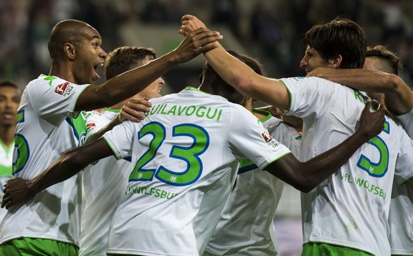Radość piłkarzy Wolfsburga /AFP