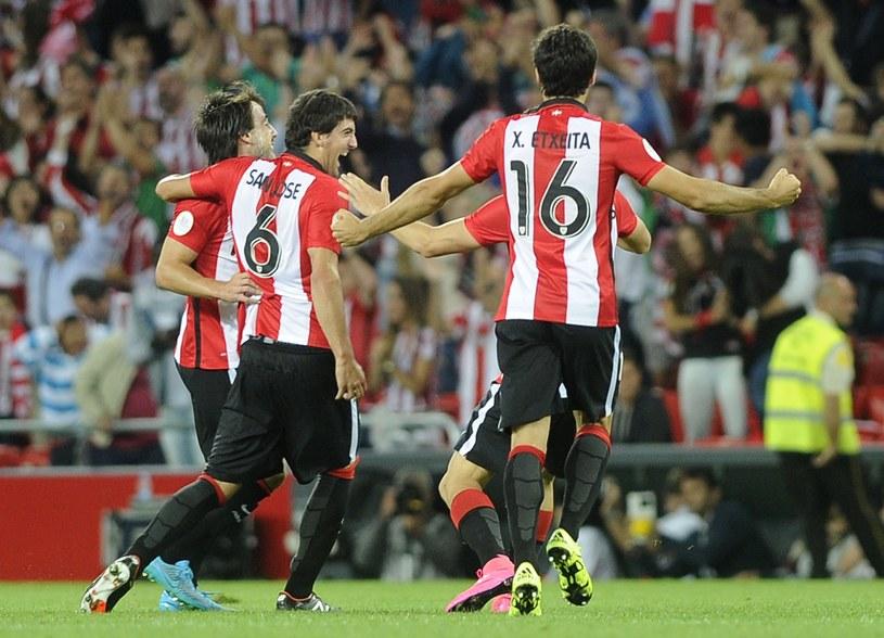 Radość piłkarzy z Bilbao po pierwszym golu /AFP /AFP