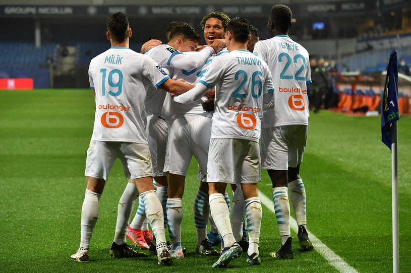 Radość piłkarzy z Marsylii / PASCAL GUYOT /AFP