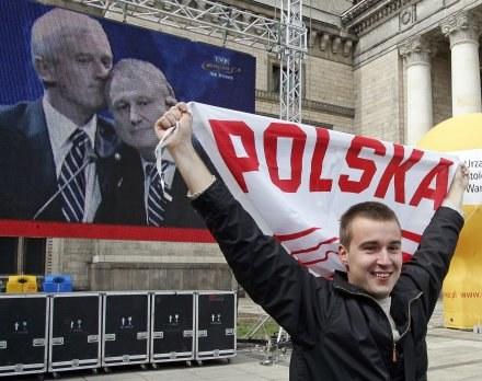Radość po przyznaniu Polsce i Ukrainie Euro 2012 /AFP