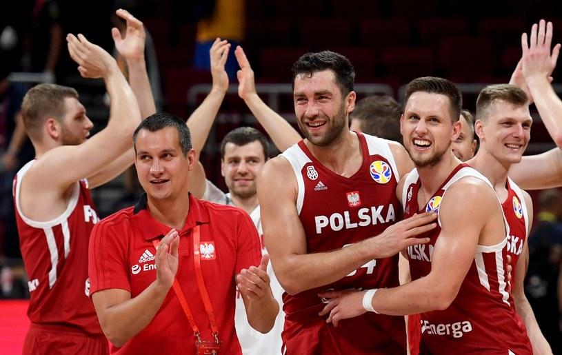 Radość Polaków po meczu z Chinami /AFP