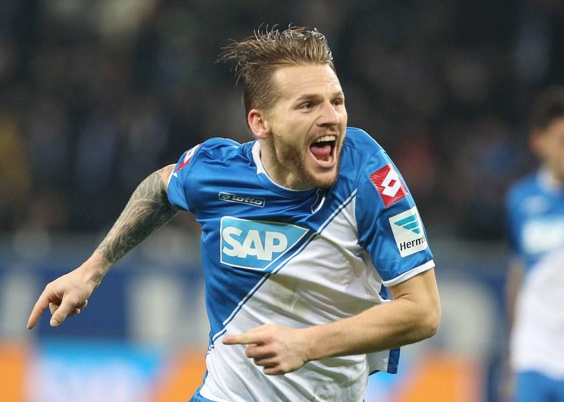 Radość Polańskiego po pierwszym golu w tym sezonie /AFP