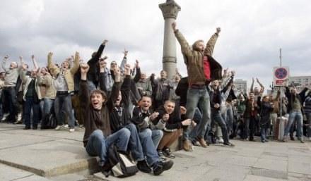 Radość polskich kibiców po ogłoszeniu decyzji UEFA /AFP