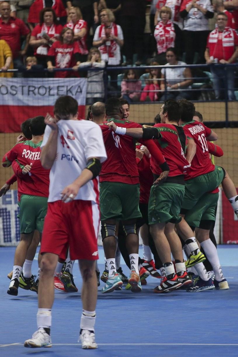 Radość Portugalczyków po meczu z Polską /PAP/EPA