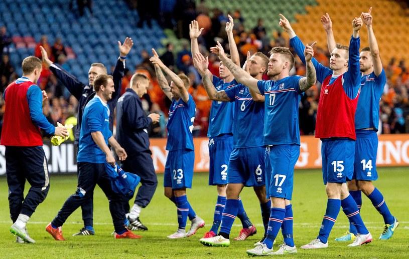 Radość reprezentacji Islandii /AFP