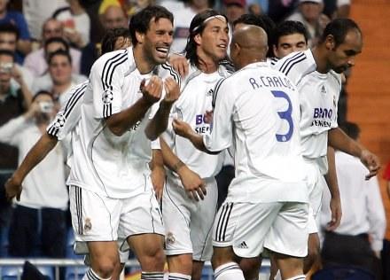 Radość Ruuda Van Nisterlooya po zdobyciu gola /AFP