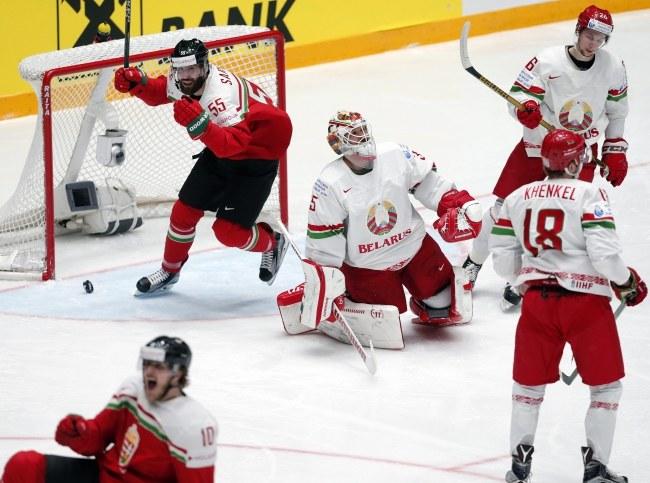 Radość Węgrów podczas meczu z Białorusią /PAP/EPA