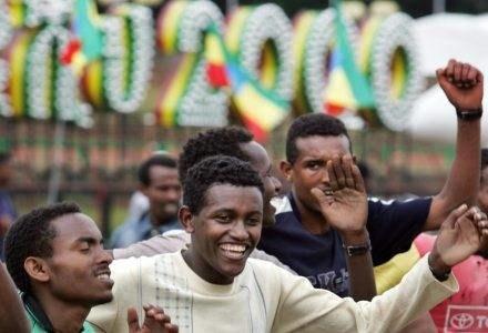 Radość z nadejścia nowego milenium w Addis Abebie /AFP