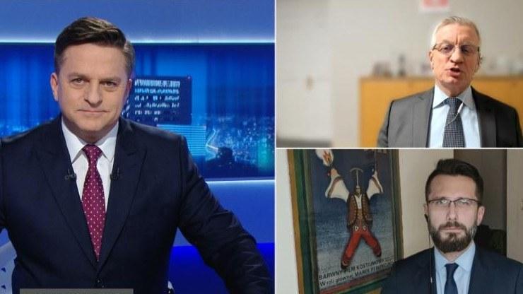 """Radosław Fogiel i Jacek Jaśkowiak w """"Gościu Wydarzeń"""" w Polsat News /Polsat News"""