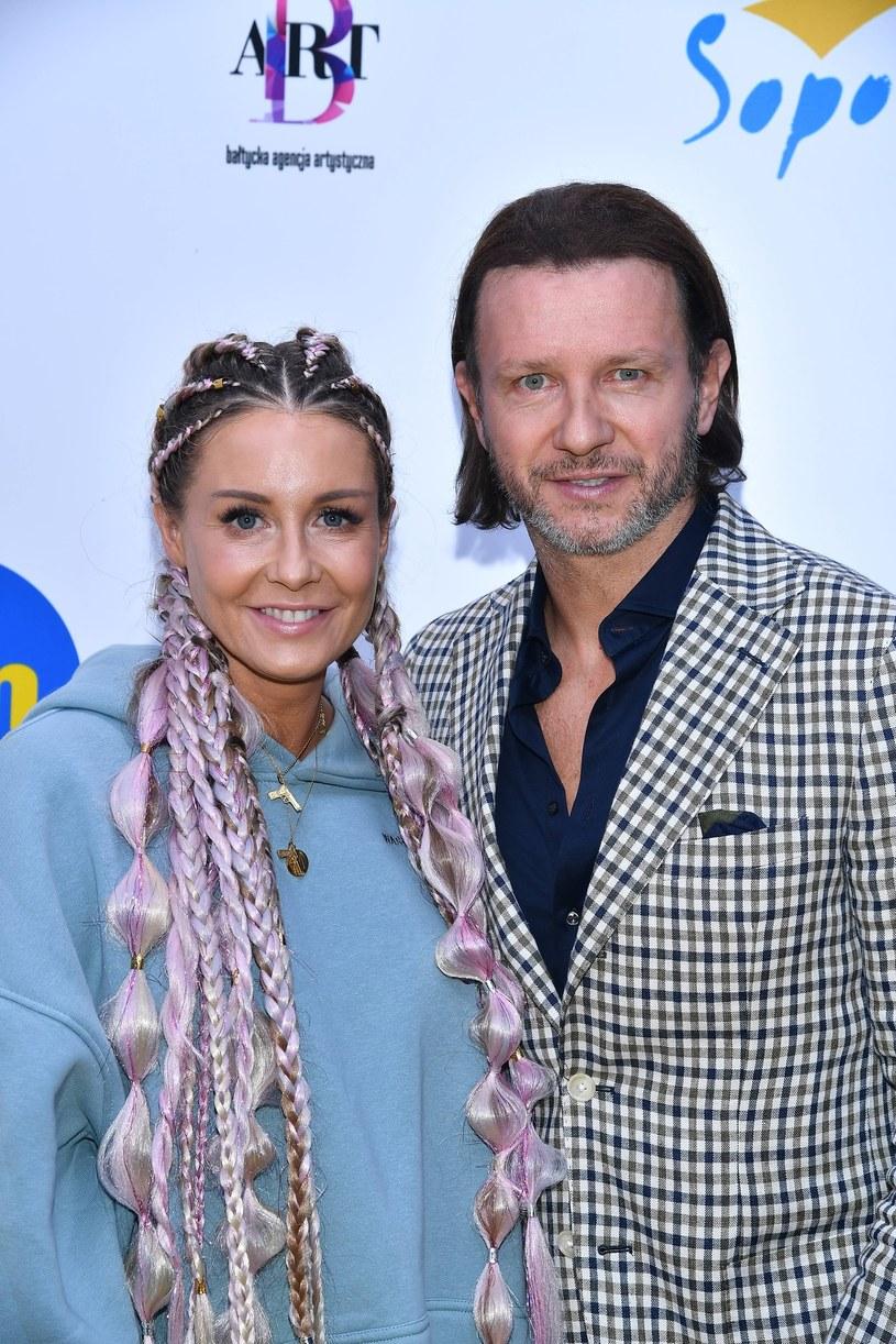 Radosław Majdan i Małgorzata Rozenek-Majdan na Top of the Top Sopot Festival /Mateusz Jagielski/East News /East News