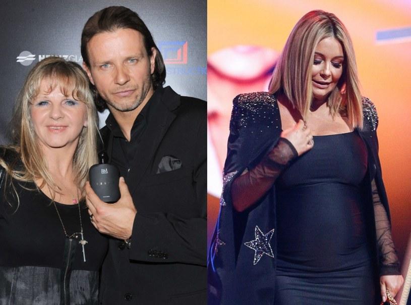 Radosław Majdan z mamą i Małgorzata Rozenek /EastNews /East News