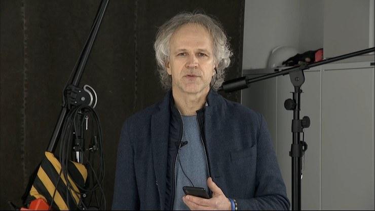 Radosław Pazura był gościem na antenie Polsat News /Polsat News
