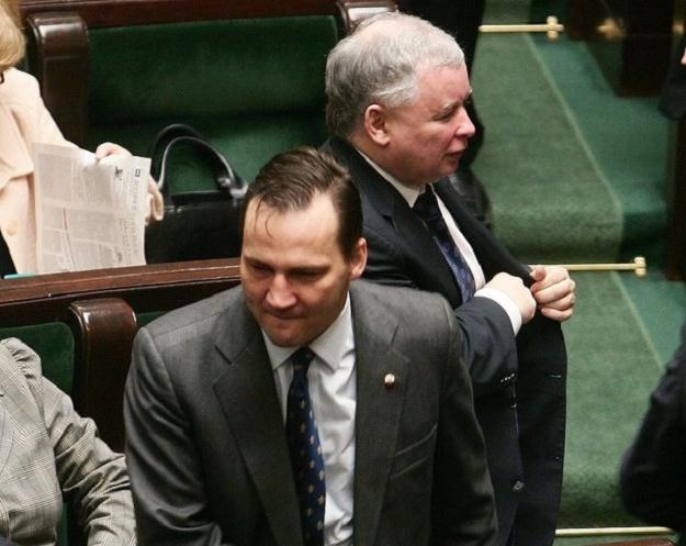 Radosław Sikorski i Jarosław Kaczyński / fot. W. Rozbicki /Reporter