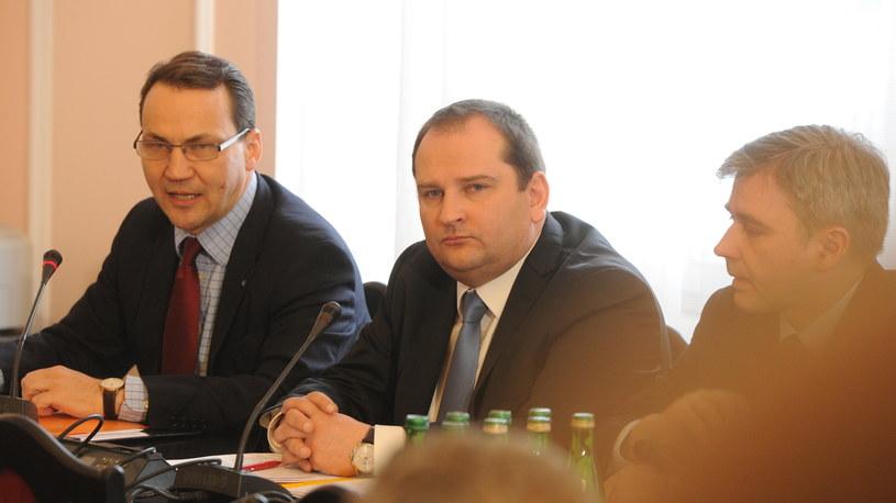 Radosław Sikorski i Tomasz Arabski /Grzegorz Jakubowski /PAP